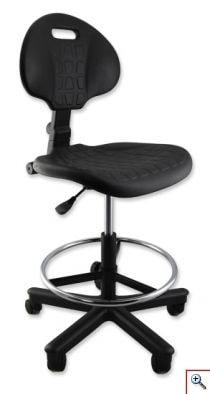 Krzesło medyczne z podnóżkiem i oparciem