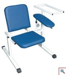 Fotel do pobierania krwi z półką